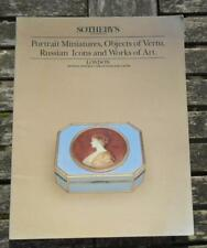 Sotheby's PORTRAIT MINIATURES, OBJECTS VERTU, RUSSIAN ICONS works of art 1988