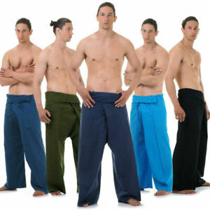 ✅ Vegan & Fair - Thai Fisherman Pants Wickelhose Fischerhose Yoga Karate Hose