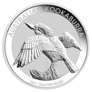 2011 Australian Silver Kookaburra 10 oz Coin- Perth Mint
