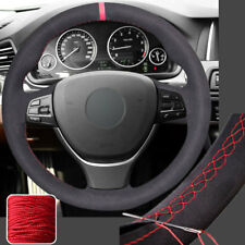 Anti-slip Suede Steering Wheel Cover Wrap for BMW 5 6 Series 550i 535i 5GT 11-16
