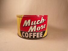 Vintage 1 lb Much More Coffee Can Rare Tin Chicago, Illinois