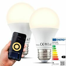 LED WiFi Leuchtmittel Smart Home Lampe dimmbar Birne E27 Alexa Google 9W 2er SET
