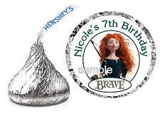 216 BRAVE MERIDA BIRTHDAY PARTY FAVORS HERSHEY KISS KISSES LABELS