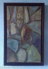 François OZENDA Tableau Huile HST 1960 signée (61x39cm) Art brut Abstraction