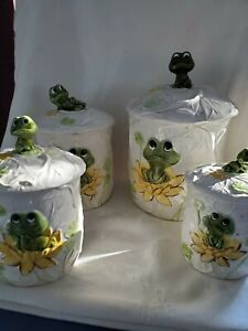 1978 Neil the Frog Cansiter Set