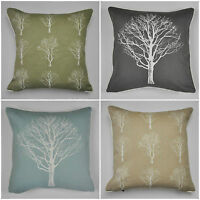 """Woodland Forest Trees Cushion Covers 4 Colours Available 17"""" x 17"""""""