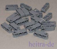 LEGO Technik - 20 Verbinder 1x3, 2 x Pinloch Achsloch dunkelgrau / 42003 NEUWARE