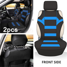 2x Black/Blue Car Front Seat Cover Cushions Protector Car Interior Accessories
