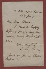 1870.  Rev. John Llewelyn Davies to Mr. Blunt. Preach.  Church Reform.  yd 16