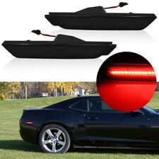2X Rear Side Marker Lamps For 2010-2015 Chevrolet Camaro Smoked Lens Red LED Hot