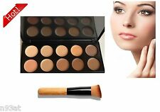 10 Pro Cream Concealer and Correct palette Contour and Highlight Makeup + Brush