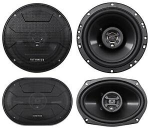 "2) Hifonics ZS693 6x9"" 800 Watt Car Audio Coaxial Speakers+2) 6.5"" 600w Speakers"