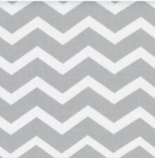Gray White Chevron Cotton Quilting Fabric BTY (YD)