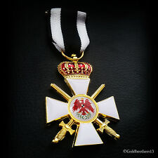 Order of the Red Eagle 3rd Class with Crown and Swords WW1 German Medal Repro