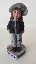 Sarah's Attic You Are Special 1995 Girl Black Checkered Pantsuit and Hat 5""