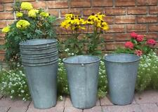 4 NICE OLD GALVANIZED Maple Syrup Sap Buckets TAPERED GREAT!
