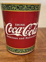 """10"""" Tall Coca Cola Delicious & Refreshing 5 Cent Trash Can Waste Basket"""