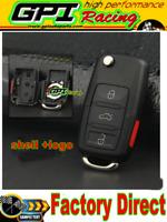 Remote Folding Key Flip Shell Case Uncut Blank For VW Jetta Passat 3+1 Buttons