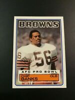 1983 Topps # 245 CHIP BANKS ROOKIE RC Football Card Cleveland Browns HOT !