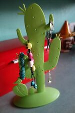 Unusual Cactus jewellery earrings holder stand retro kitsch Rockabilly