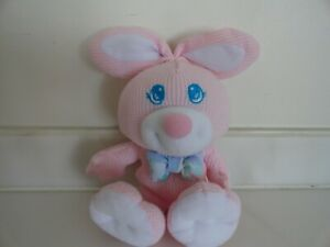 Fisher Price Pink White Thermal Cozies 1994 Bunny Rabbit Vintage Plush Baby Toy