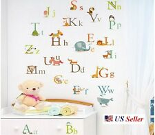 Educational 26 letter Animals Alphabet Learn A to Z Baby Room Decal Wall Sticker