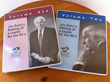 RARE Vintage Tapes! Jim Rohn Making Of A Leader For The 90's -  TWO BIG VOLUMES!