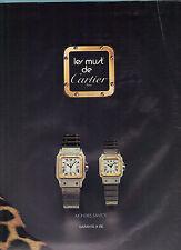 PUBLICITE ADVERTISING   1981    CARTIER    montres SANTOS