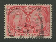 """CANADA #53 USED JUBILEE SQUARED CIRCLE CANCEL """"YARMOUTH"""""""