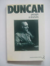 DUNCAN Robert - Passages & Structures - EO Envoi Signé BEAT GENERATION 1977 BE