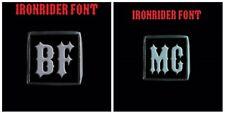 Stainless Steel BFMC 2 Piece MC Club Biker Ring Set Ironrider font Custom size