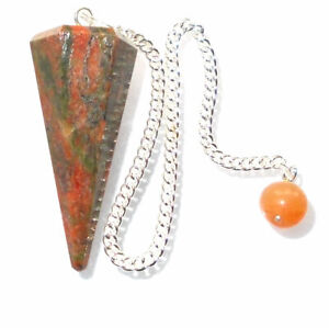 Unakite Dowsing Pendulum Powerful & Responsive Healing Crystal