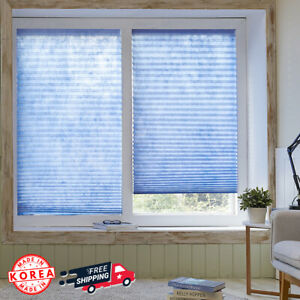 [4 Pack] Versatile Self Shade Blinds No Tools Cellular Shades Korea Made 35x90""