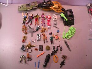 GI JOE Cobra Late 1980's & 1990's Huge Lot of Figures Accessories Weapons +