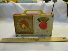 Vintage Fisher Price Pocket Radio Music Box works Hickory Dickory Dock Clock