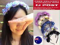 Women Girl Small Flower Rose Wedding Beach hair band headband Garland Hoop PROP