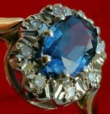 Stunning! 18Ct Gold Ceylon Sapphire Diamond Diana Engagement Ring Hallmarked