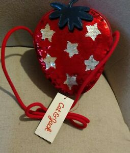 Cat And Jack Girls strawberry Purse New With Tags