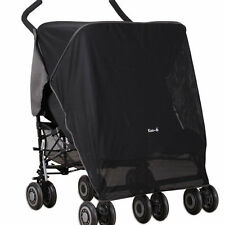 Sun/Sleep/Snooze/Nap Blackout Net Shade Cover for Double Twin Buggy Pushchair