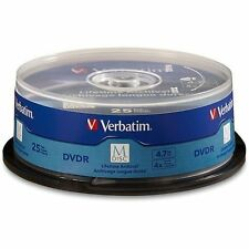 M DISC VERBATIM DVDR 4.7GB 4X Branded Logo 25 pk Spindle 98908