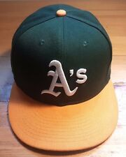 Green & Yellow Oakland A's Athletics Official Authentic On-Field Cap Hat Size 7