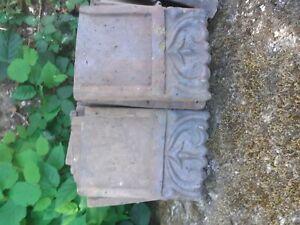 Ancienne bordures jardin en terre cuite  fin 19 ème