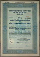 Acción, noroeste alemana centrales AG, Hamburgo 1952, (art.3203)