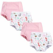 Hudson Baby Girl Cotton Training Pants, 4-Pack, Woodland Fox