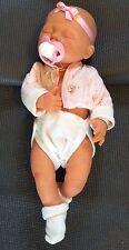 Magnifique Poupon bébé réaliste reborn sexué BERJUSA 40 cm Fille collector Neuf!