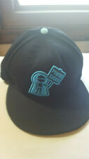 NEW ERA black Powder Sucks Step Child Logo Snowboard Flat Brim Cap Hat