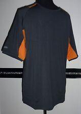 Herren Funktions Sport Fitness Lauf Kletter kurzarm Shirt grau orange Gr. S NEU