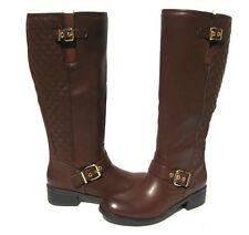 Women's Riding Fashion Boots Brown Knee High Shoes Winter Snow Ladies size 7