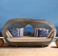 Designer Wicker Outdoor Rattan Day Bed Garden Furniture Patio Pool Lounge Set