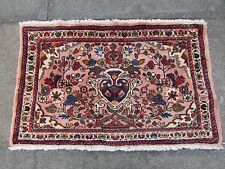 Old Hand Made Traditional Persian Rug Oriental Wool Pink Small Rug 55x90cm